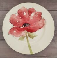 NEW (4) Royal Stafford Red Poppy Flowers Dinner Plates Spring Home Kitchen Decor