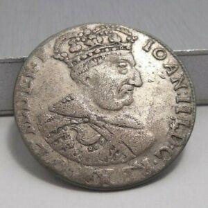 1683 Poland Silver 6 Groschen Johan III Sobieski Crown Bust Obverse
