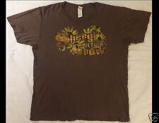 SHERYL CROW Detours Size Large Light Brown T-Shirt