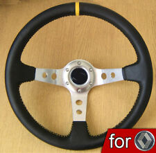 Deep Dish Rally Steering Wheel for RENAULT 5 GT Clio Megane 9 11 R5 Turbo Laguna
