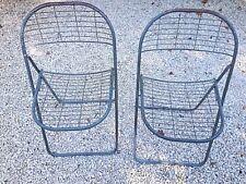 Lot de 2 chaises pliantes style Bertoia