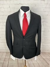 Kenneth Cole Men's Solid Black Blazer 38S $395