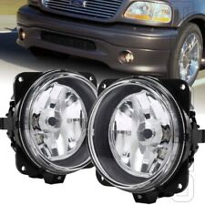 Fits 2000-2004 Ford F-150 F150 Harley Davidson Left Right Pair Clear Fog Lights