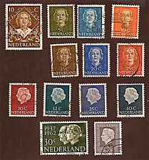 Netherlands 13 1948-62 Qn Juliana, Prince Bernhard + Stamps Used SeeDescr Fus614