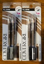 NEW Lot of 2 COVERGIRL BROW & EYE MAKERS PENCIL with Sharpener #510 Soft Brown