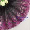 1 Yard Floral Tulle Lace Trim Ribbon Embroidered Wedding Fabric Sewing DIY A101