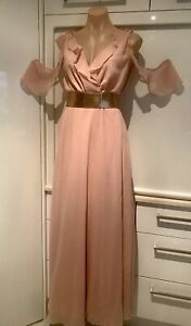 Stunning Dusty Pink Maxi By Boohoo NWT Size 12/14