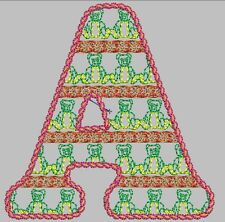 Bear ABC package Embroidery Digitized Designs Machines in any Format