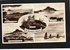 ST MICHAEL'S MOUNT. CORNWALL. MULTIVIEW POSTCARD POSTED 1953