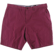 NEW Mens Tommy Hilfiger Beet Red Twill Classic Fit Khaki Chino Shorts Size 35