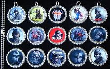 15 Call of Duty Ghosts Silver Flat Bottle Cap Necklaces Set 1