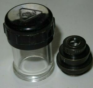 Carl Zeiss Jena P8 Mikrotar 3CM F4.5 AP 0.1 Lens Vintage Rare Small Lens