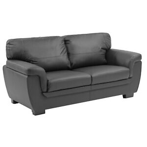 Candy 3+2 SEATER LEATHER PU SOFAS BLACK BROWN SOFA SET