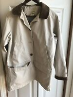 EUC Women's LL Bean Barn Coat Outdoor Jacket Corduroy Lined Size Medium