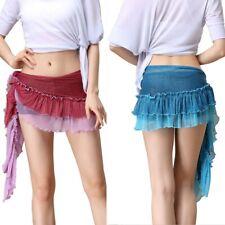 Belly Dance Hip Skirt Scarf Wrap Women Beach Fringe Shining Wrap Skirt Belt