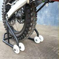 HEAVY DUTY Motorcycle Motorbike Rear Wheel Stand Set Paddock Race Lift