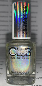 Color Club Holograhic Nail Lacquer Polish *STAR LIGHT BRIGHT* Gold Rainbow Holo