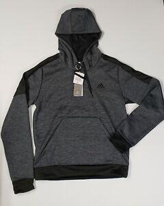 Adidas Women's TI Fleece PO Hoodie Black/Grey CF0075 Size medium NWT