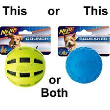 NWT! Nerf Dog Toy Set or Each Individual Crunch & Squeak Tuff Tug Ball Football
