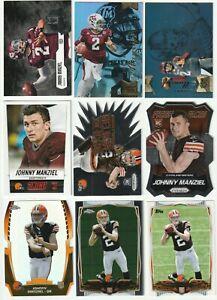2014 Johnny Manziel RC Lot. 34 Cards. Prizm, Chrome, Flair, UD, etc....