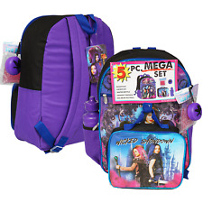 Disney Descendants Girl School Backpack Lunch Box Book Bag 5 Piece Set Toy Gift