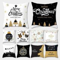 Weihnachten Kissenbezug Kissenbezüge Kissenbezug Home Sofa Dekor D1P5