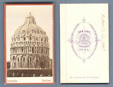 Van Lint, Italia, Pisa, Battistero  CDV vintage albumen. Vintage Italy  Tirage