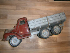 """RARE RUSSIAN 26""""L TOY TRUCK CAR 1930's TIP LORRY CARRIAGE WOOD/GLASS/METAL BASE"""