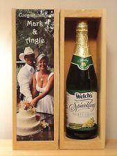 Custom Wine Box, WEDDING PHOTO Personalized Wine Box, Liquor box, ANNIVERSARY