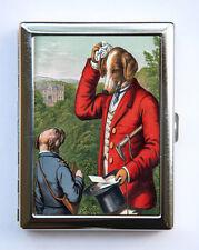 Dog Cigarette Case Wallet Business Card Holder funny humor anthropomorphic