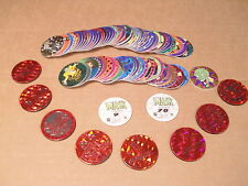 MASK POGS BY CANADA GAMES COMPLETE SET of 78 ALL RED SLAMMERS/KINIS