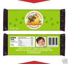 12 Dinosaur Birthday Party Favors Personalized Candy Wrappers
