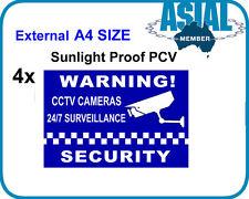 4 Sticker A4 CCTV Camera Surveillance Warning Security Notice Weatherproof PVC