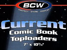 200 Current Comic Toploader Holders Crystal Clear Top Load Display - NEW - BCW