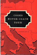COOKS MOTOR-COACH TOUR BOOKLET – BELGIUM, LUX, GER, AUST AND KITZBUHEL (1961)