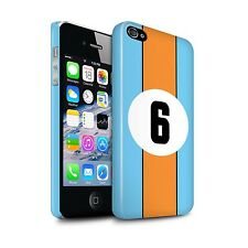 STUFF4 Gloss Phone Case for Apple iPhone Phones/Racing Car Stripes/Cover
