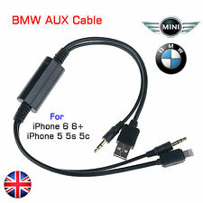 BMW Mini iPod iPad iPhone 5 5S 5C 8pin USB 3.5MM AUX Interface Cable Adapter