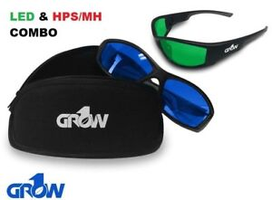 Grow1 Gruve LED & HPS Combo Grow Room Glasses + FREE Carrying Case
