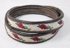 Traditional Antique Native North American Beaded Handmade Beadwork Beaded Belt