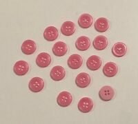 Large Chunky Pink Buttons Round 28mm x 3pc D480 Aussie Seller