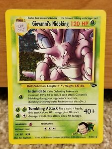 Giovannis Nidoking - Gym Challenge Unlimited 7/132 - Holo Rare Pokemon Card - PL