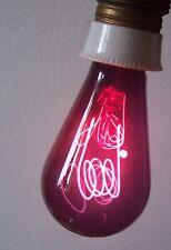 Alte rote Kohlefaden Glühbirne E27 Heizstrahler Rotlicht Heilstrahler !