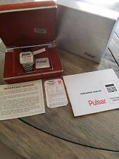 Pulsar Stainless Time Computer Calculator Digital Watch -Men's- -NOS-