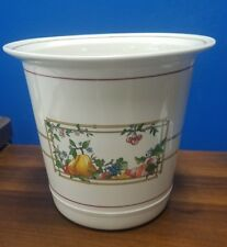 "VILLEROY & BOCH china Mon Jardin wine cooler 7"" tall 7-3/4"" across"