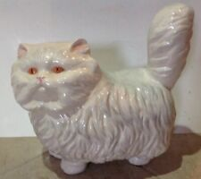 Vintage 1980 Ceramic Munchkin Cat Large Figure Statue
