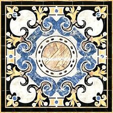 Marquetry Traditional Art Marble Dining Top Table Inlay Real Outdoor Decor H5288
