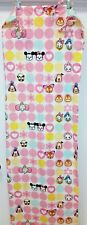 Disney Cuties 1 Pair of Curtain Panels Pink White Mickey Mouse Minnie Bambi