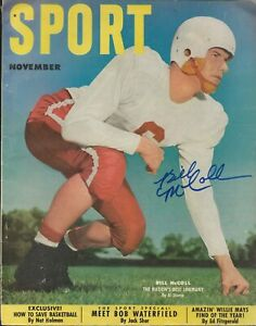 Bill McColl Autographed November 1951 Issue Sport Magazine Stanford