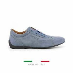 Sparco Imola-GP Blue Shoes Sneakers in Suede