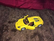 KINSMART MATT 1/36 SCALE DIECAST YELLOW PORSCHE CARERRA GT WITH OPENING DOORS